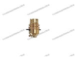 BRASS PUSH BAR LAMPHOLDER PK1