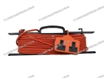 2 GANG 15 MTR 5 AMP ORANGE EXTENSION LEAD & FRAME PK1