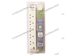 5 GANG & 2 USB SOCKETS  ANTI SURGE 2 MTR EXTENSION LEAD