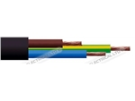 3183Y 0.75 3 CORE ROUND BLACK CABLE 100M