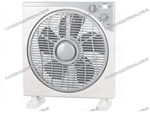 "BOX FAN 12"" 3 SPEED WITH 120MIN TIMER"