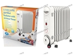 PREM-I-AIR 2.5KW OIL FILLED RADIATOR WITH 3 HEAT SETTINGS & 24HR TIMER