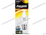 ENERGIZER DIMMABLE LED CANDLE BC B22 27K 6.2W 470LM