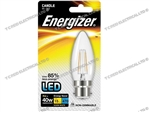 ENERGIZER FILAMENT LED CLEAR CANDLE BC B22 27K WARM WHITE 4W 470LM