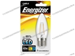 ENERGIZER FILAMENT LED CLEAR CANDLE ES E27 27K WARM WHITE 4W 470LM