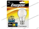 ENERGIZER FILAMENT LED CLEAR GLS BULB BC B22 27K WARM WHITE 6.2W 806LM