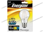 ENERGIZER FILAMENT LED CLEAR GLS BULB ES E27 27K WARM WHITE 6.2W 806LM