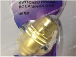 BRASS PUSH-BAR LAMPHOLDER PK1