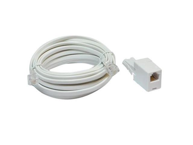 10m adsl broadband extension lead uk adaptor. Black Bedroom Furniture Sets. Home Design Ideas